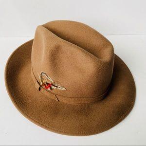 Vintage Lite Felt 100% Wool Fedora Hat Made In USA